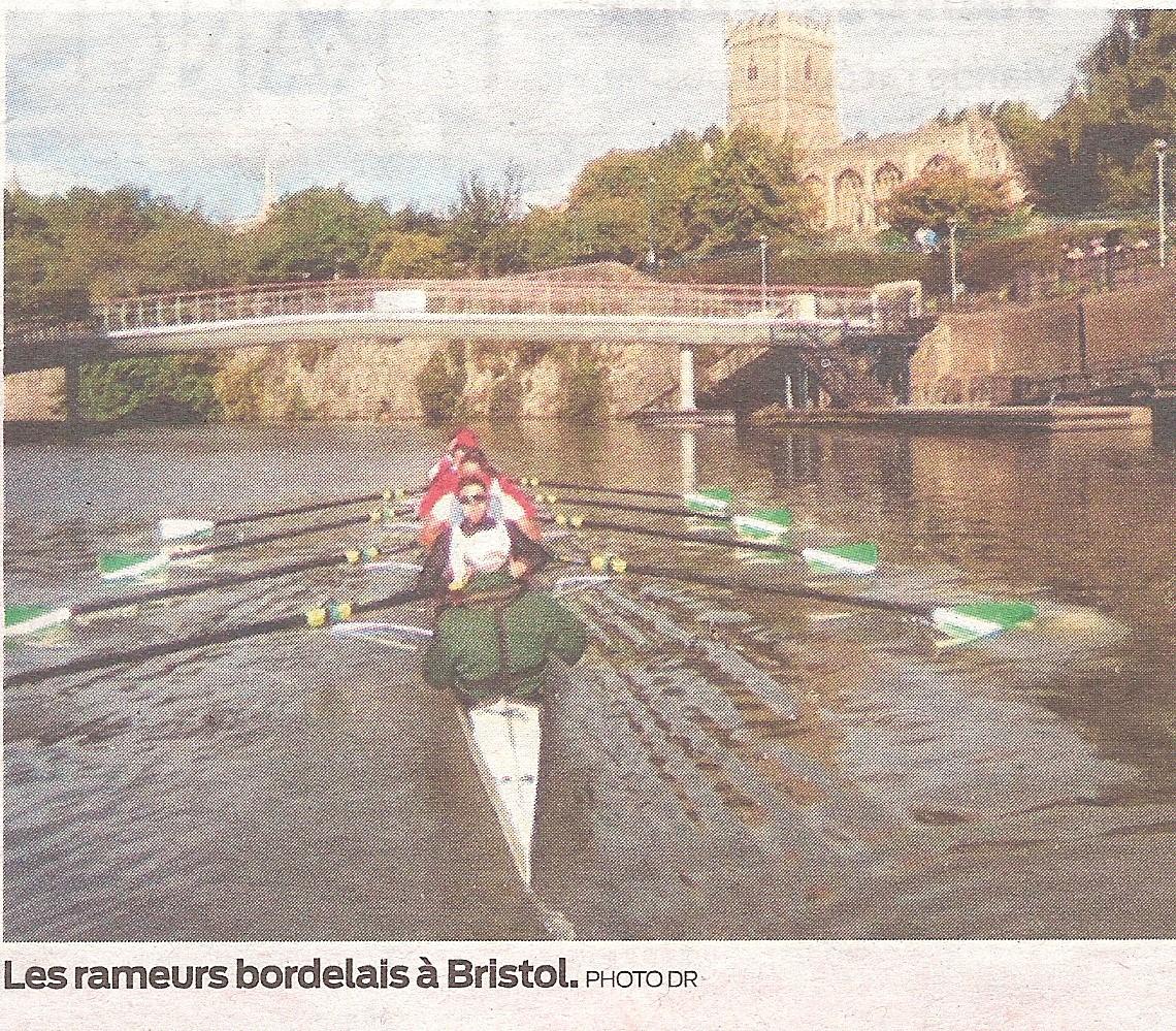 Les rameurs bordelais : ils ont mis le cap vers Bristol