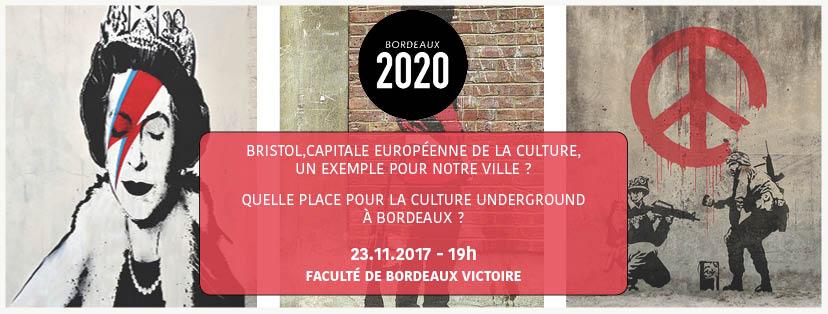 """Bristol, une """"capitale"""" européenne de la culture et une exemple pour d'autre ville? Quelle place pour la culture indépendante à Bordeaux?"""